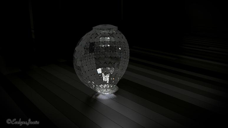 1/2_Sphère_Diamond, utilisée pour l'animation - vidéo 3D